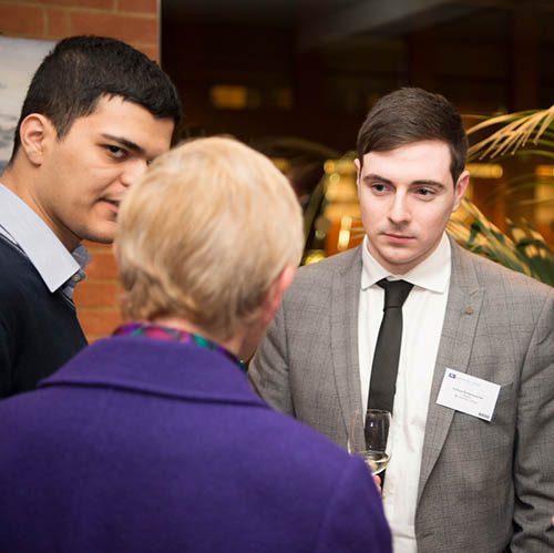 A student networking at one of The London Institute of Banking & Finance events