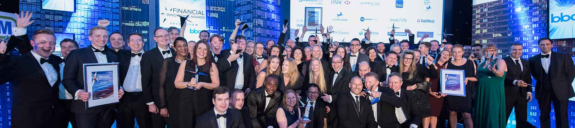 Winners at the Financial Innovation Awards ceremony