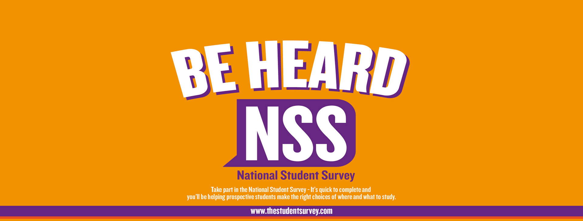 Take the NSS survey now