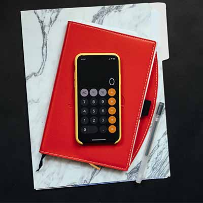 Calculator and notebooks