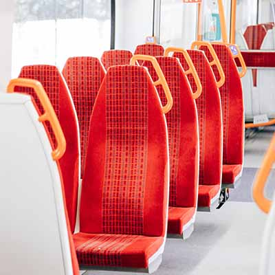Empty train seats