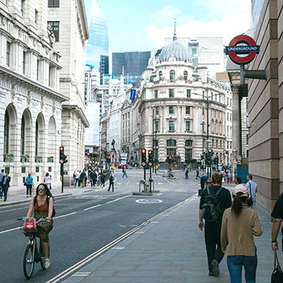 Street scene from the City of London