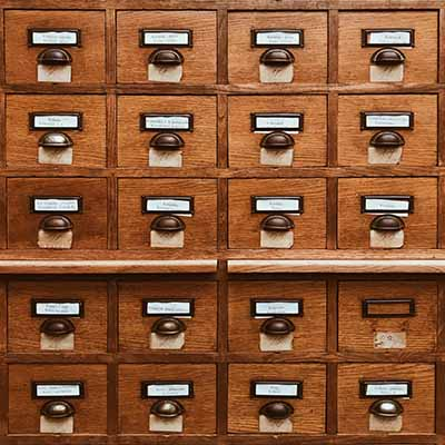 Index card drawers