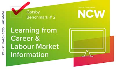 Graphic with National Careers Week, learning from career and labour market information