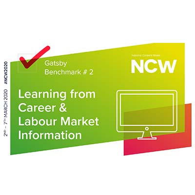 National Careers Week logo, learning from careers and market information