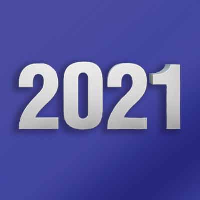 2021 written on purple background