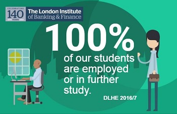 100% of our students are in employment or education within six months of leaving according to figures from DLHE