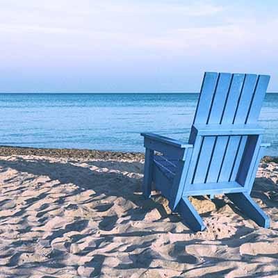 blue chair on beach