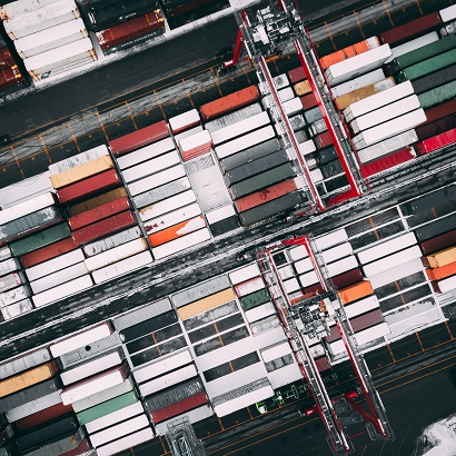 Shipping containers from above