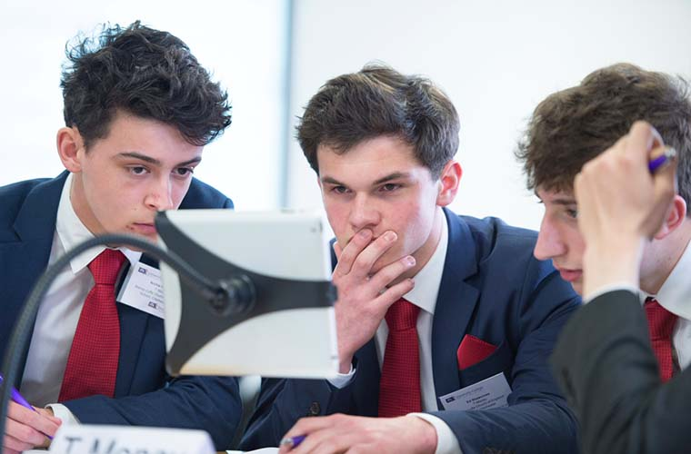 More than 40,000 students from all across the UK took part in this year's Student Investor Challenge. Here three members from the Bishop Luffa, Church of England School start trading.