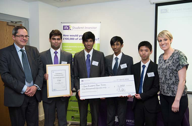The team from Queen Elizabeth's Boys school came third - winning £1000 for their school