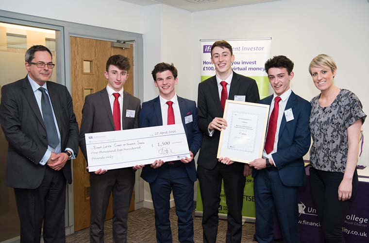 The team from Bishop Luffa, Church of England School, came second - winning £1500 for their school.