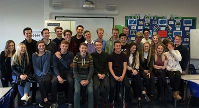 Students from The Sixth Form College in Colchester