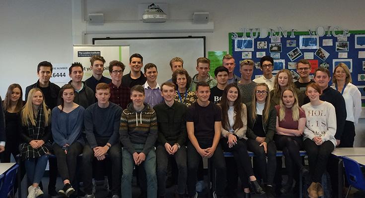 Callum Abbott with his class mates