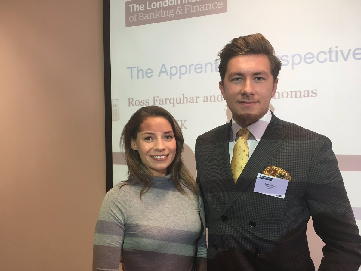 Ross & Cerys, two Barclays apprentices attending the Apprenticeships event