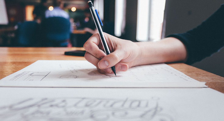 Writing on a table
